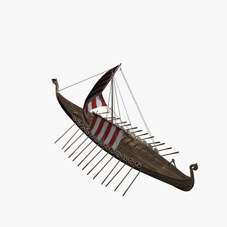 Drakkar, Viking Ship royalty-free 3d model - Preview no. 8
