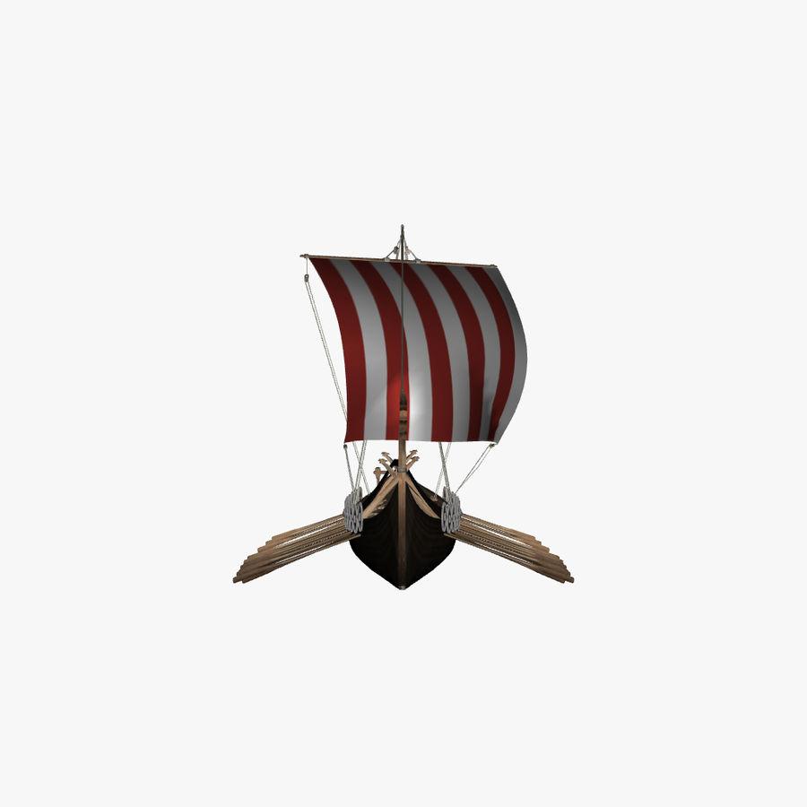 Drakkar, Viking Ship royalty-free 3d model - Preview no. 5