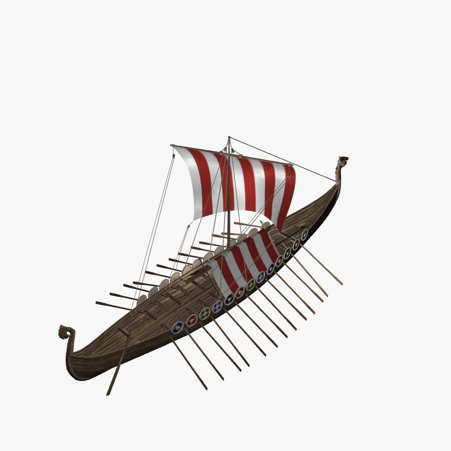 Drakkar, Viking Ship royalty-free 3d model - Preview no. 9