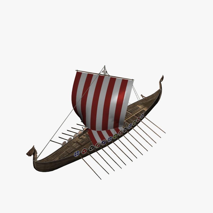 Drakkar, Viking Ship royalty-free 3d model - Preview no. 7