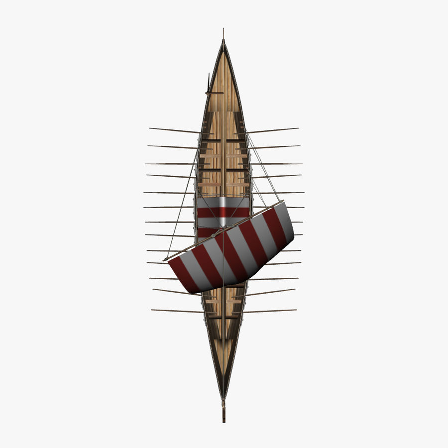 Drakkar, Viking Ship royalty-free 3d model - Preview no. 12