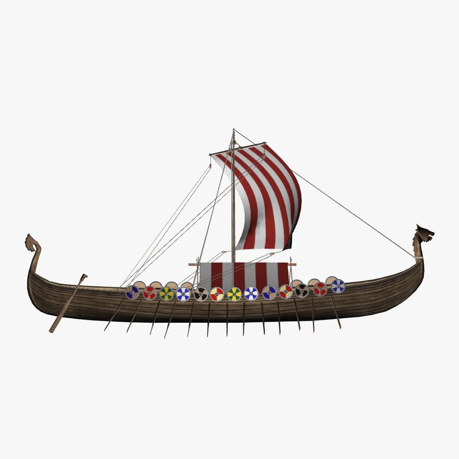 Drakkar, Viking Ship royalty-free 3d model - Preview no. 11