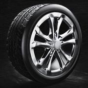 car tire model 2015 + rim 3d model