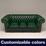 Divano in pelle Chesterfield 3d model