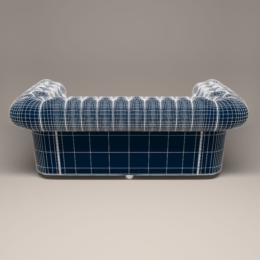 Chesterfield leather sofa royalty-free 3d model - Preview no. 4