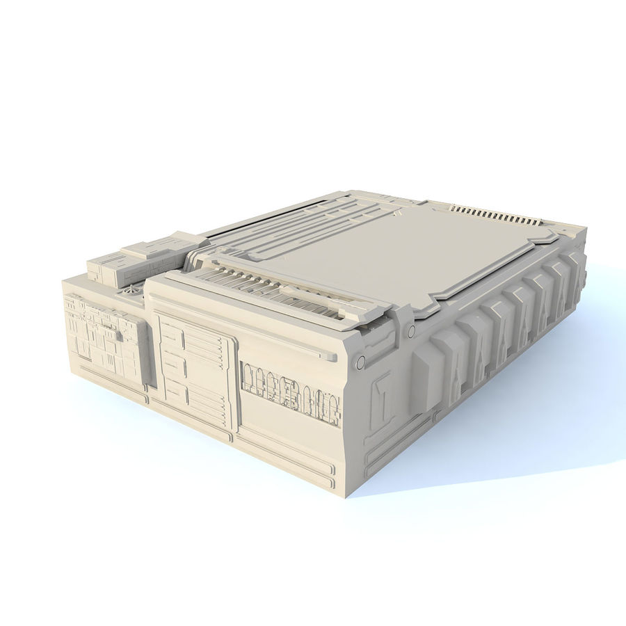 Sci fi Building - F royalty-free 3d model - Preview no. 2