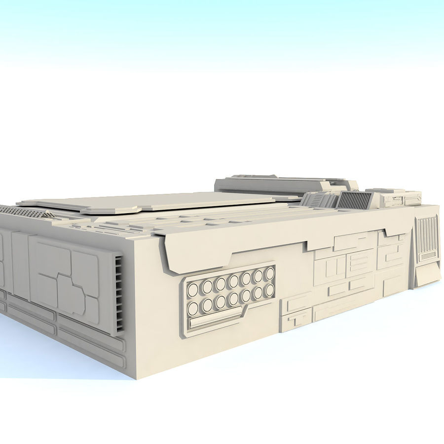 Sci fi Building - F royalty-free 3d model - Preview no. 6