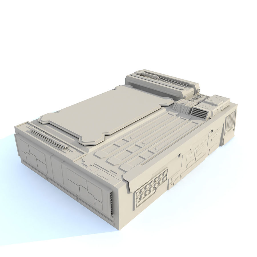 Sci fi Building - F royalty-free 3d model - Preview no. 3