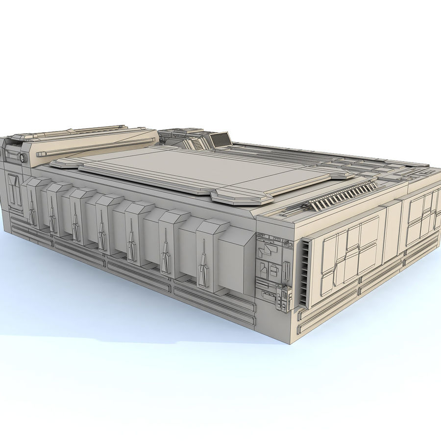 Sci fi Building - F royalty-free 3d model - Preview no. 12