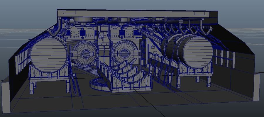 Submarine Interior royalty-free 3d model - Preview no. 2