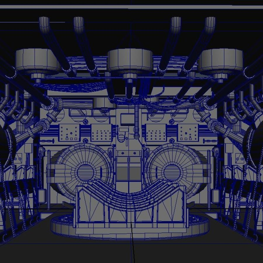 Submarine Interior royalty-free 3d model - Preview no. 3