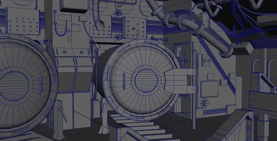Submarine Interior royalty-free 3d model - Preview no. 5