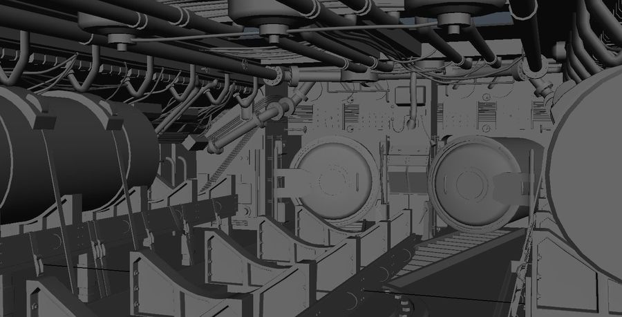 Submarine Interior royalty-free 3d model - Preview no. 4