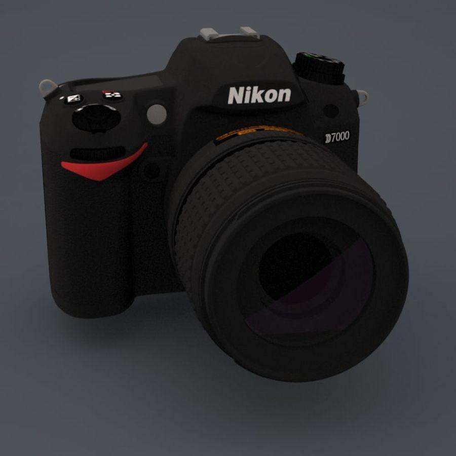 Nikon D7000 Digital SLR Camera royalty-free 3d model - Preview no. 7