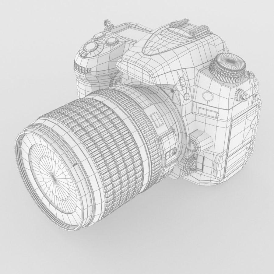 Nikon D7000 Digital SLR Camera royalty-free 3d model - Preview no. 10