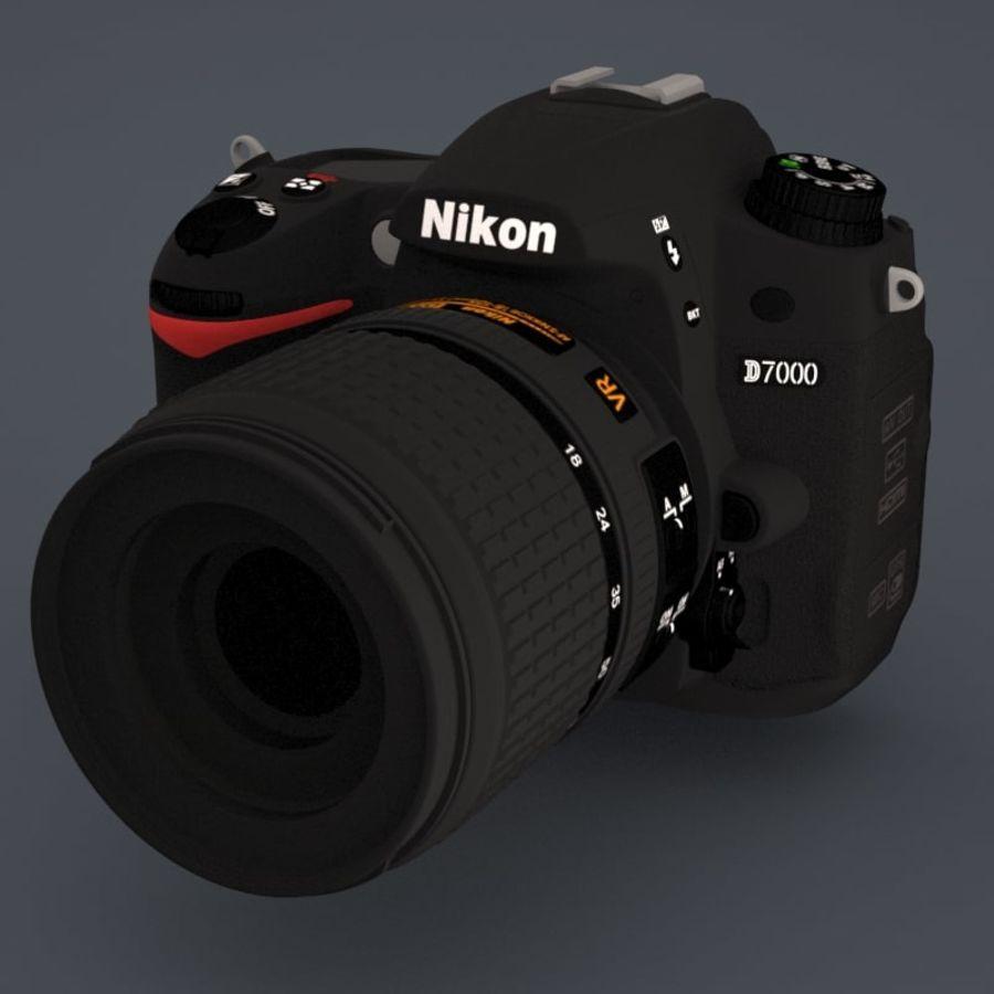 Nikon D7000 Digital SLR Camera royalty-free 3d model - Preview no. 1
