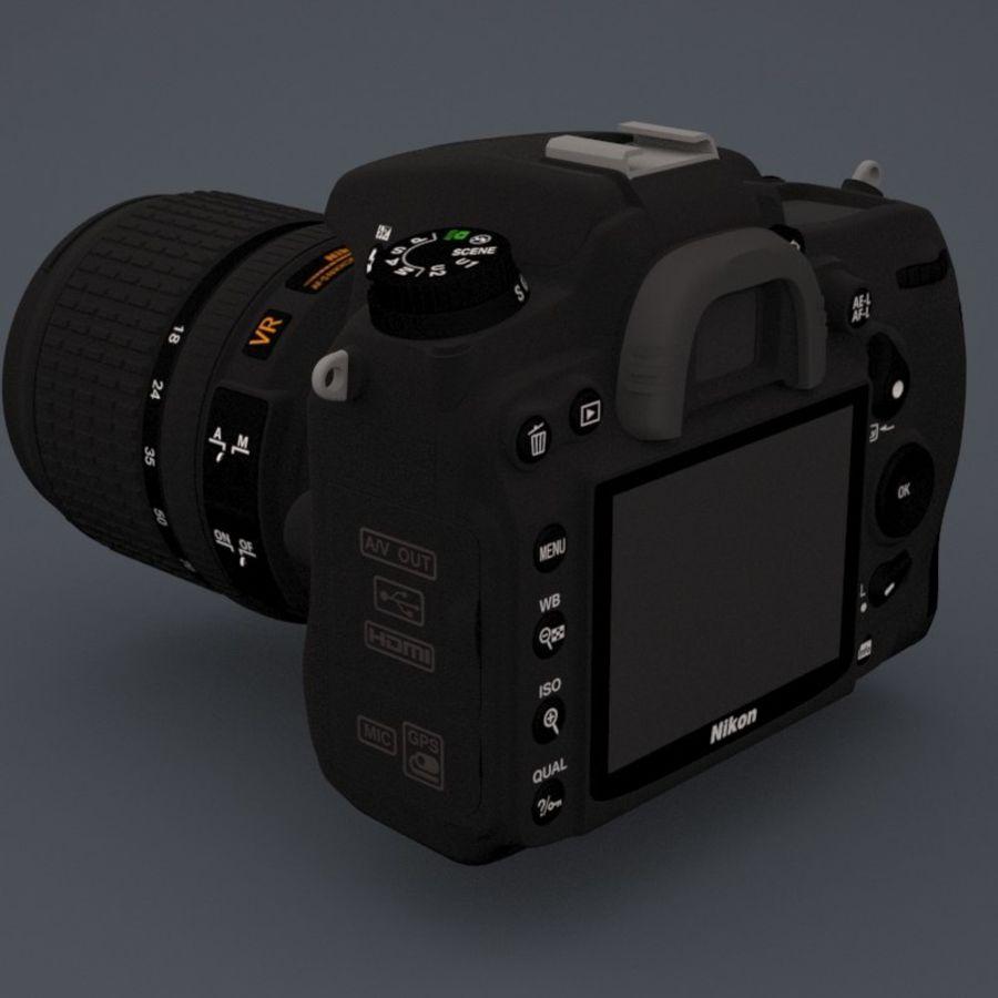 Nikon D7000 Digital SLR Camera royalty-free 3d model - Preview no. 5