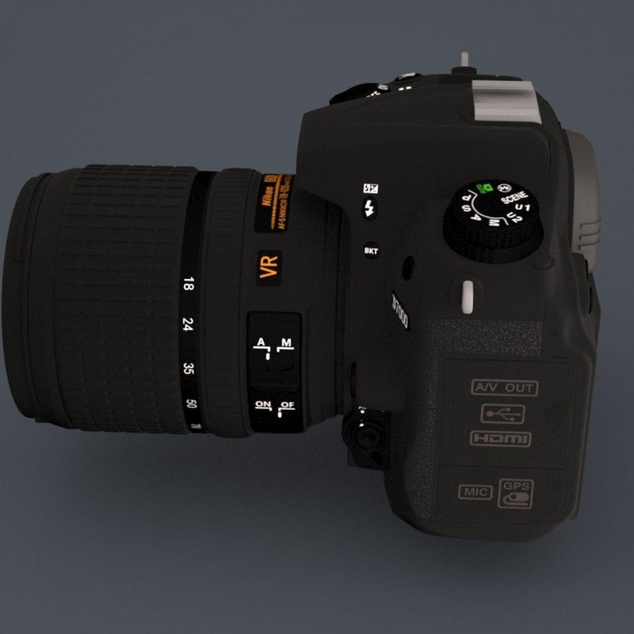 Nikon D7000 Digital SLR Camera royalty-free 3d model - Preview no. 3