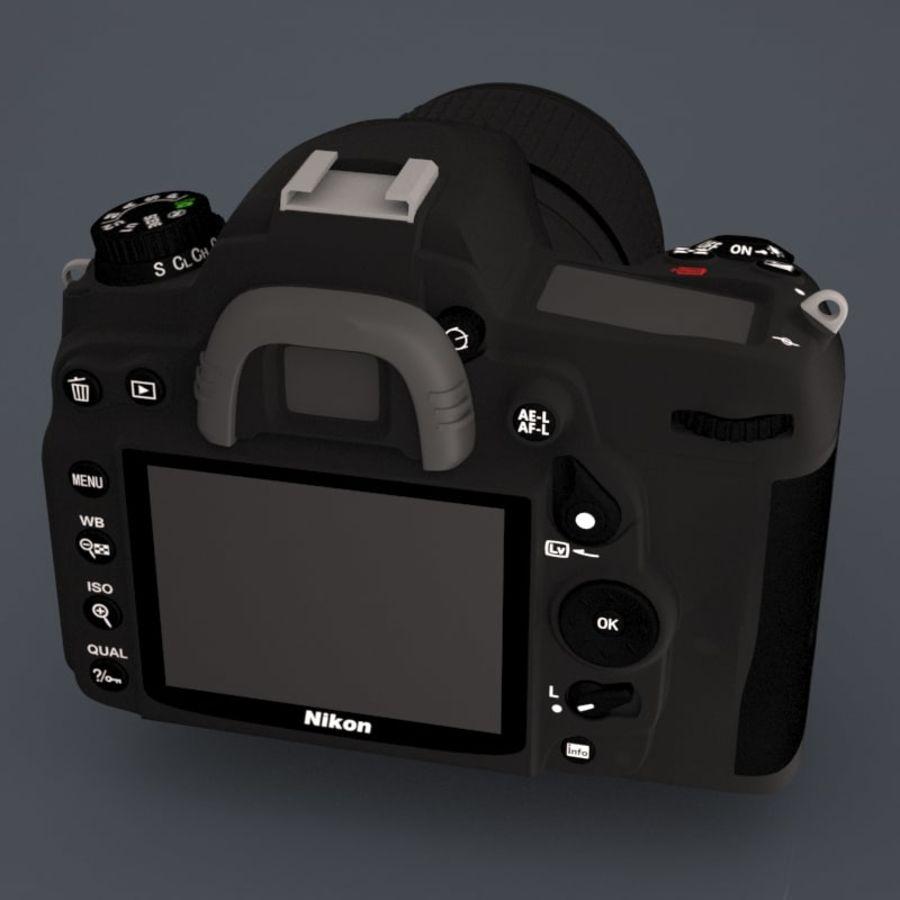 Nikon D7000 Digital SLR Camera royalty-free 3d model - Preview no. 4