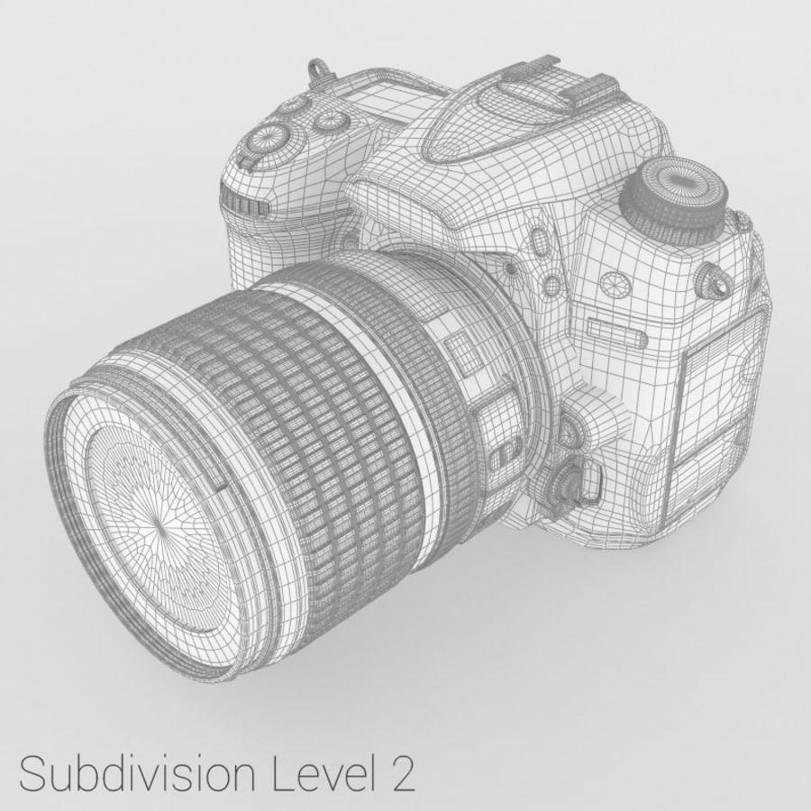 Nikon D7000 Digital SLR Camera royalty-free 3d model - Preview no. 11