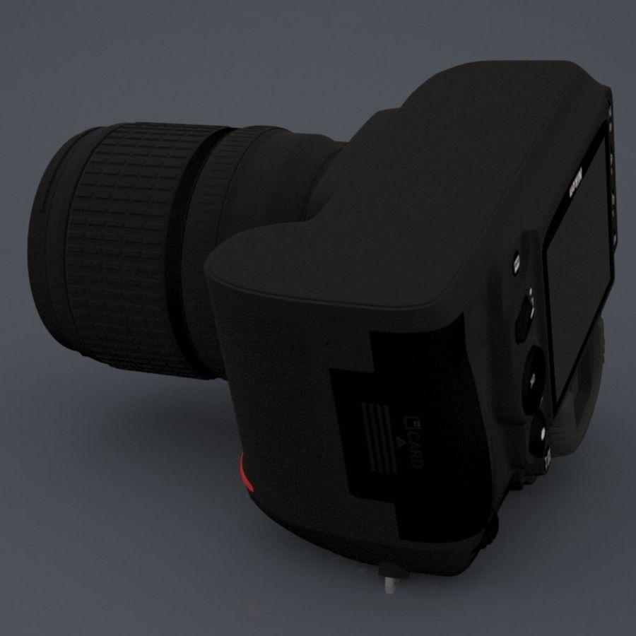 Nikon D7000 Digital SLR Camera royalty-free 3d model - Preview no. 6