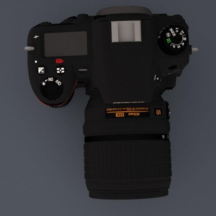 Nikon D7000 Digital SLR Camera royalty-free 3d model - Preview no. 8