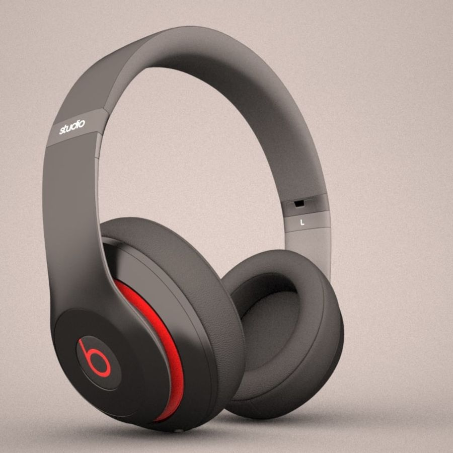 Monster Beats Audio by Dr Dre royalty-free 3d model - Preview no. 7