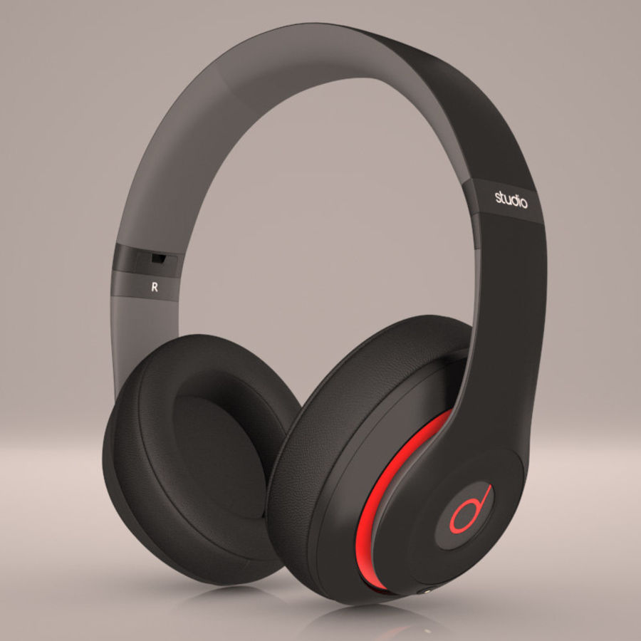 Monster Beats Audio by Dr Dre royalty-free 3d model - Preview no. 1