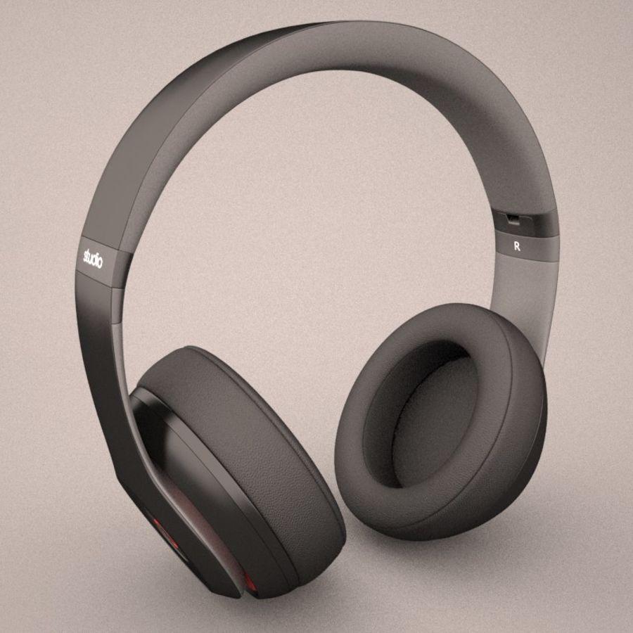 Monster Beats Audio by Dr Dre royalty-free 3d model - Preview no. 5