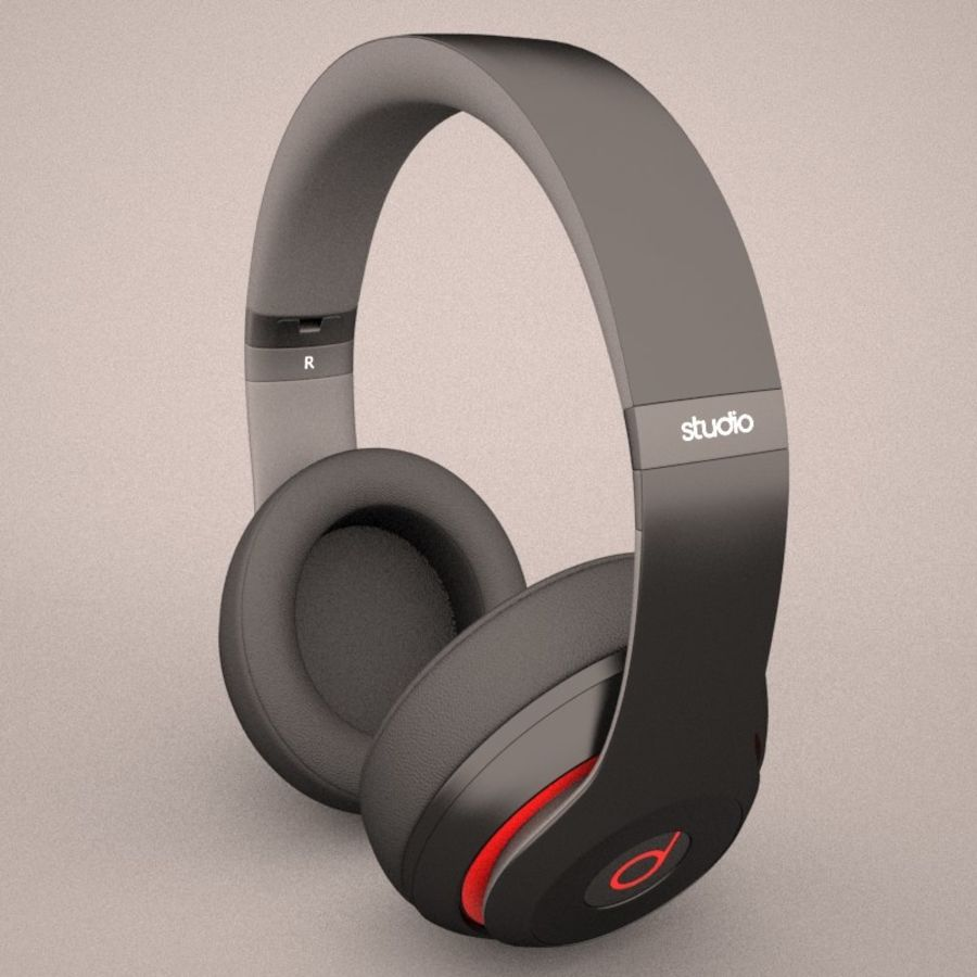 Monster Beats Audio by Dr Dre royalty-free 3d model - Preview no. 4