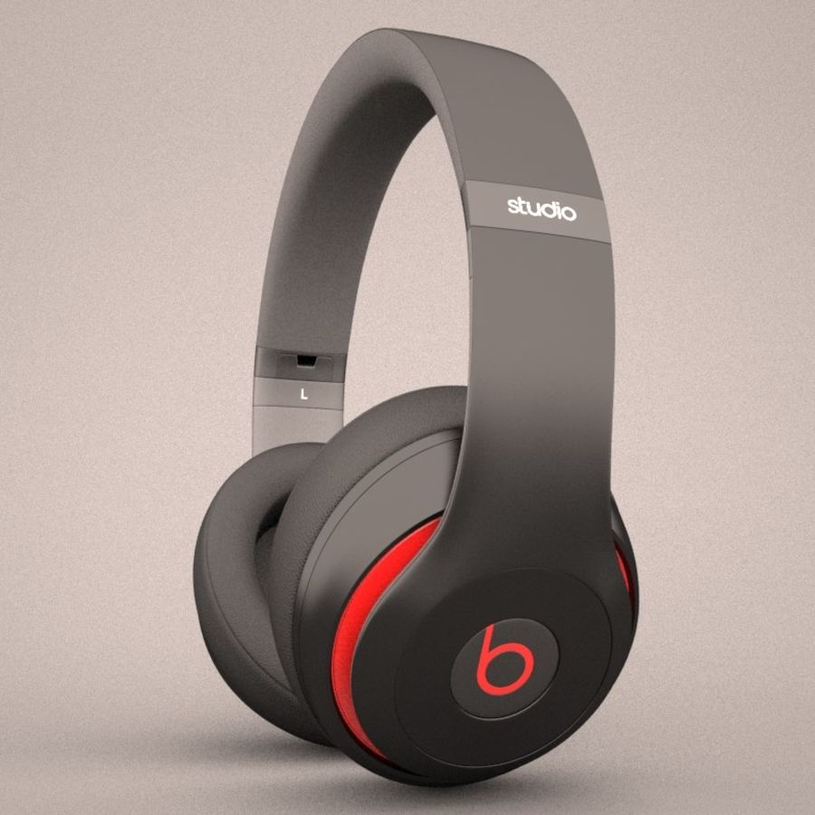 Monster Beats Audio by Dr Dre royalty-free 3d model - Preview no. 6