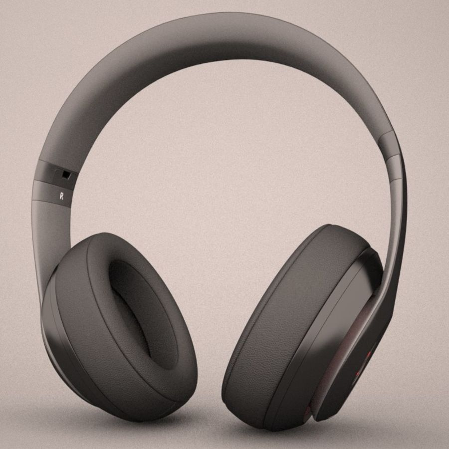Monster Beats Audio by Dr Dre royalty-free 3d model - Preview no. 3