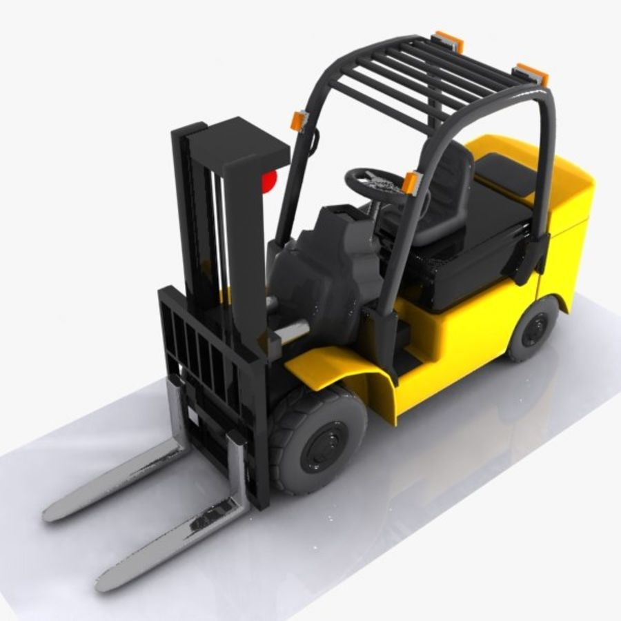 Forklift 1 royalty-free 3d model - Preview no. 3