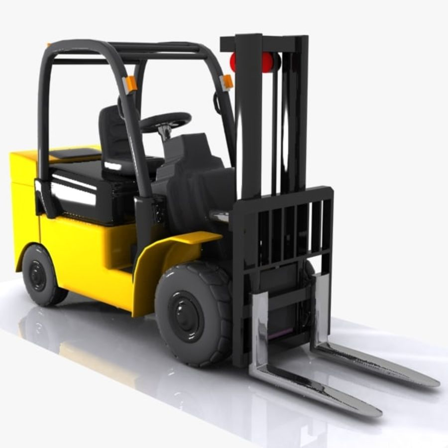 Forklift 1 royalty-free 3d model - Preview no. 4