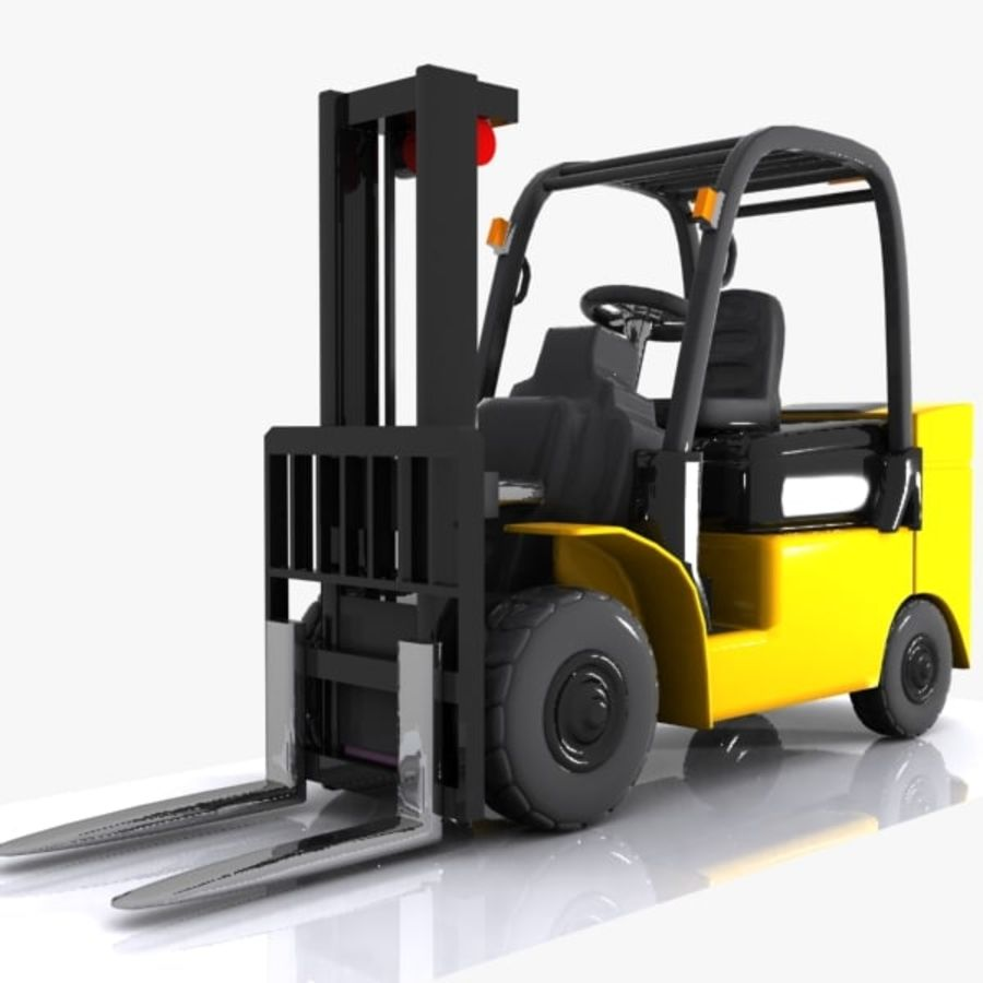 Forklift 1 royalty-free 3d model - Preview no. 1