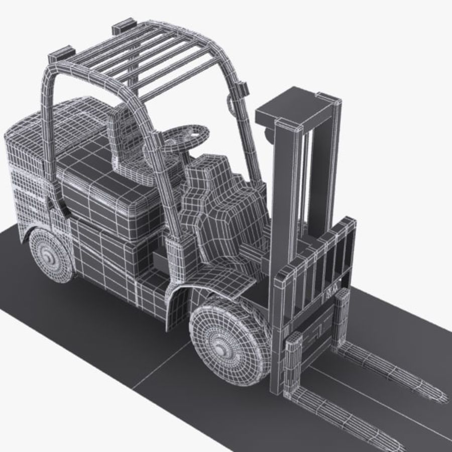 Forklift 1 royalty-free 3d model - Preview no. 10