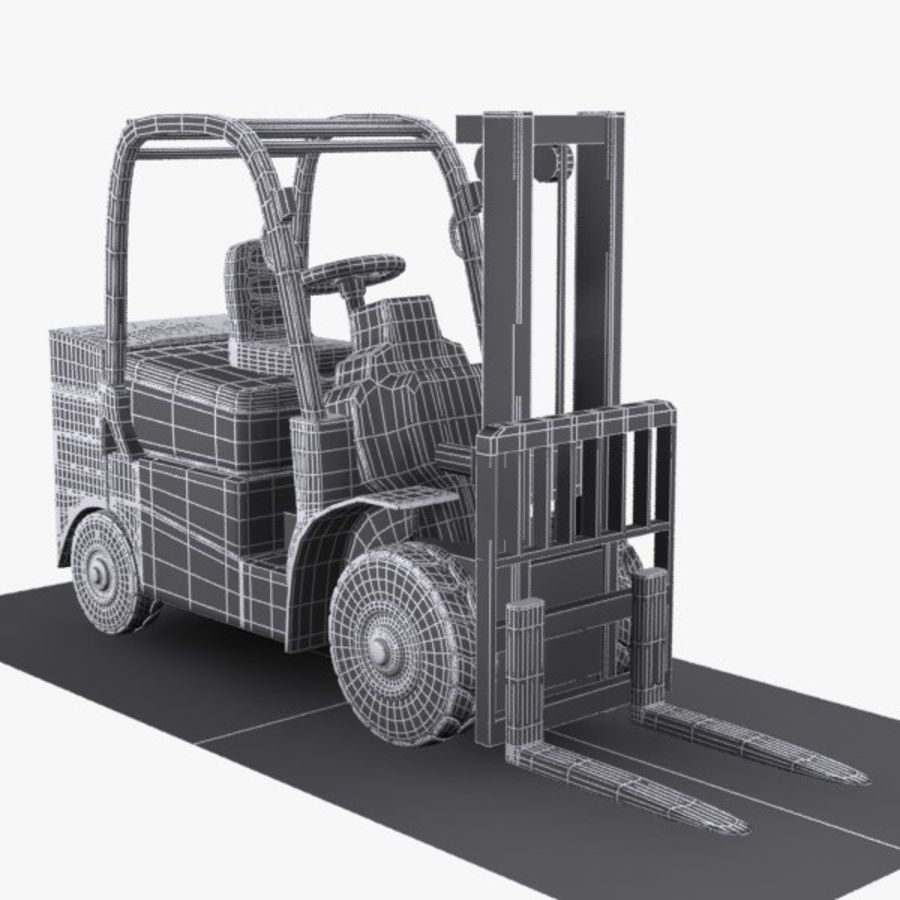 Forklift 1 royalty-free 3d model - Preview no. 9