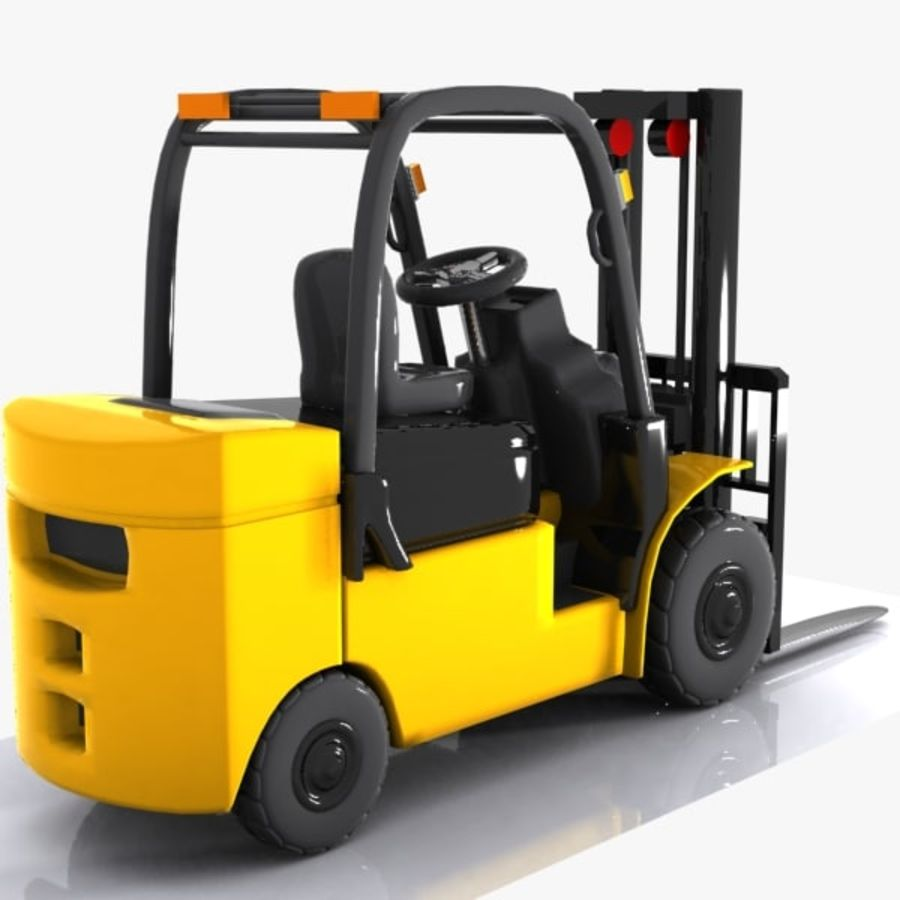 Forklift 1 royalty-free 3d model - Preview no. 7