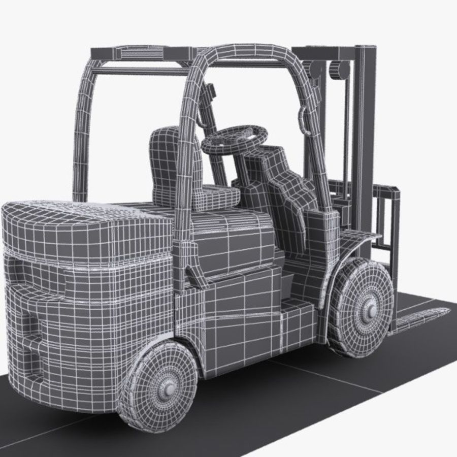 Forklift 1 royalty-free 3d model - Preview no. 8