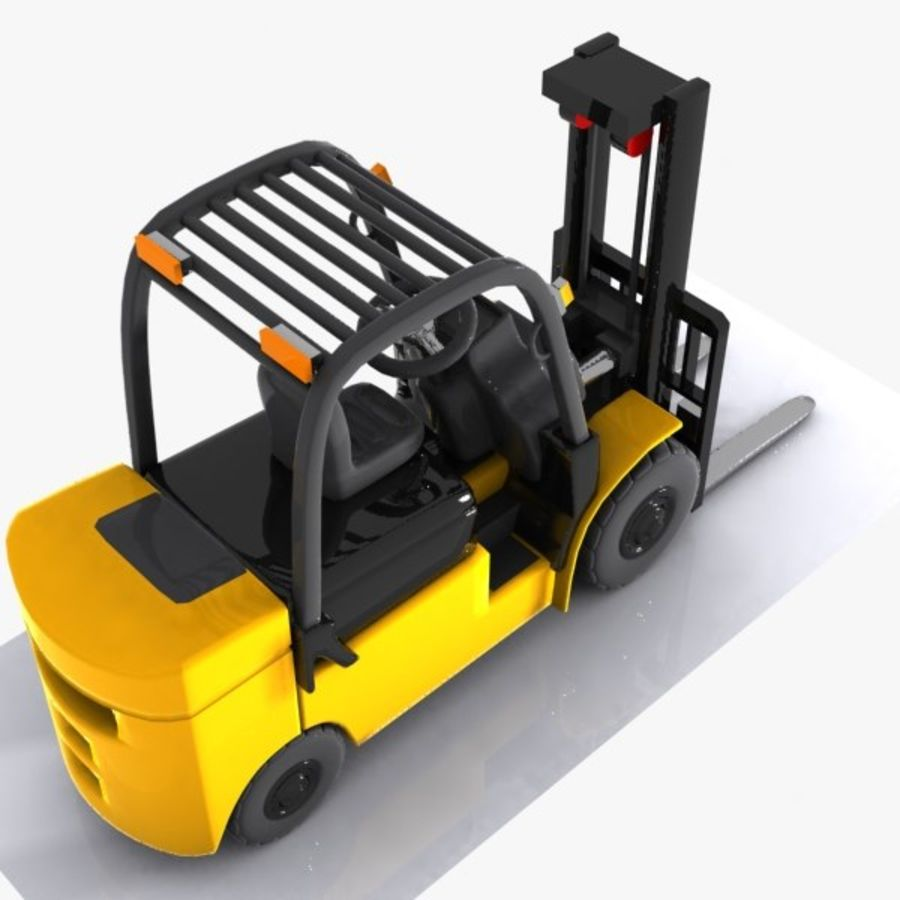 Forklift 1 royalty-free 3d model - Preview no. 6