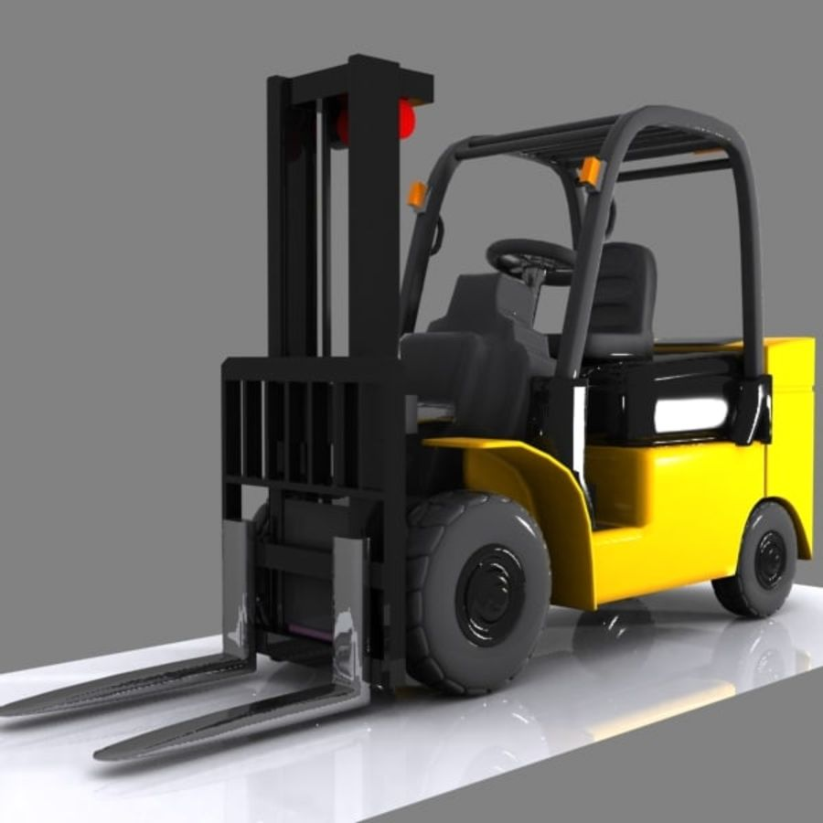 Forklift 1 royalty-free 3d model - Preview no. 2