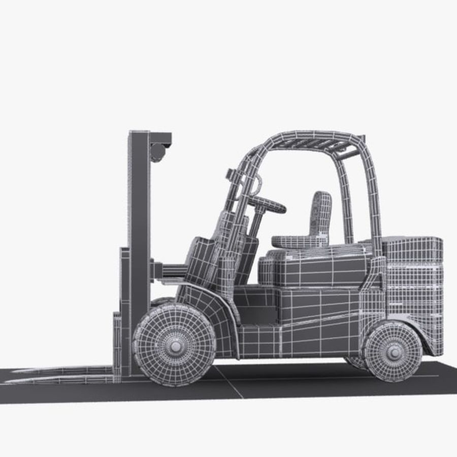 Forklift 1 royalty-free 3d model - Preview no. 12