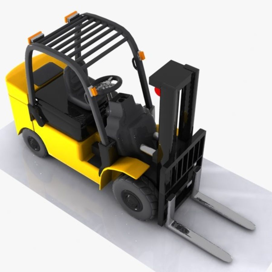 Forklift 1 royalty-free 3d model - Preview no. 5