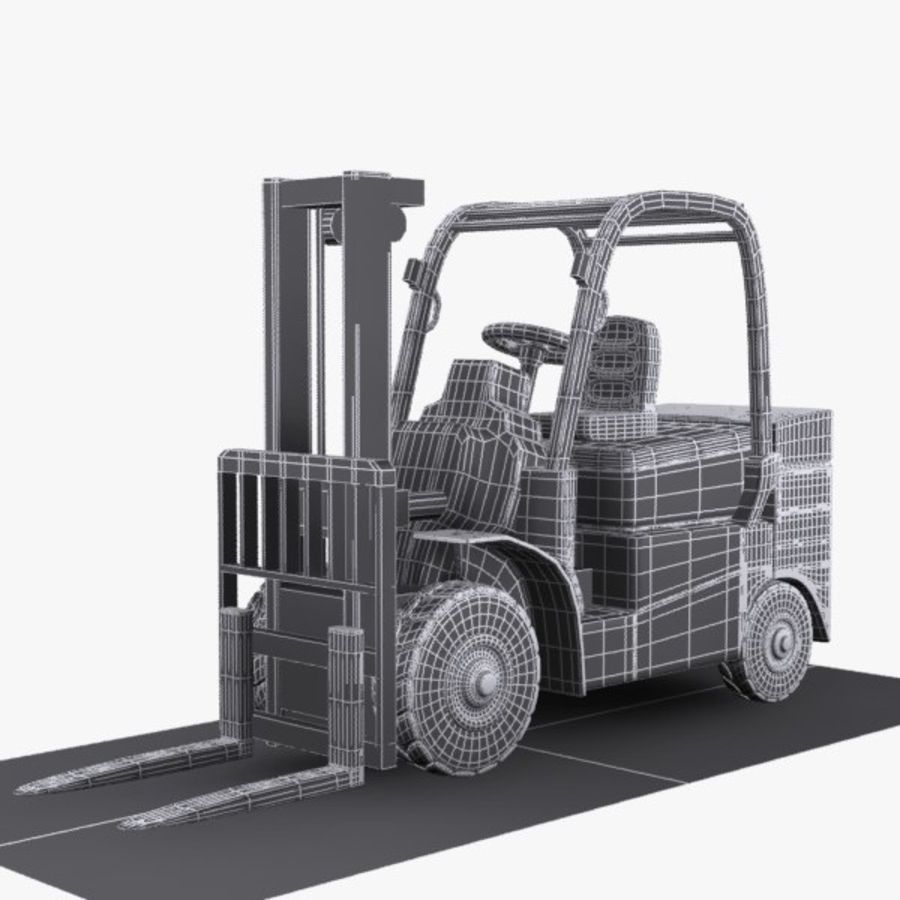Forklift 1 royalty-free 3d model - Preview no. 11