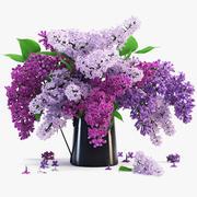 flor lilás 3d model