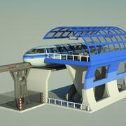 单轨 3d model