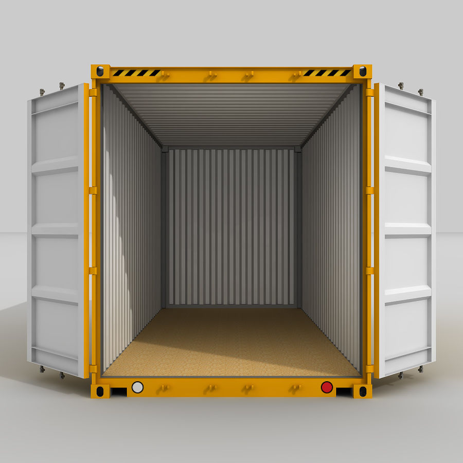 20 ft. Shipping Container royalty-free 3d model - Preview no. 3