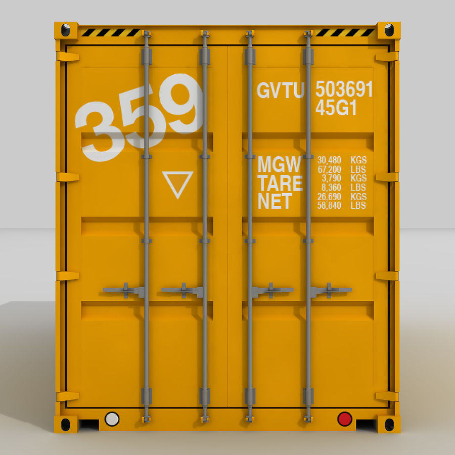 20 ft. Shipping Container royalty-free 3d model - Preview no. 1
