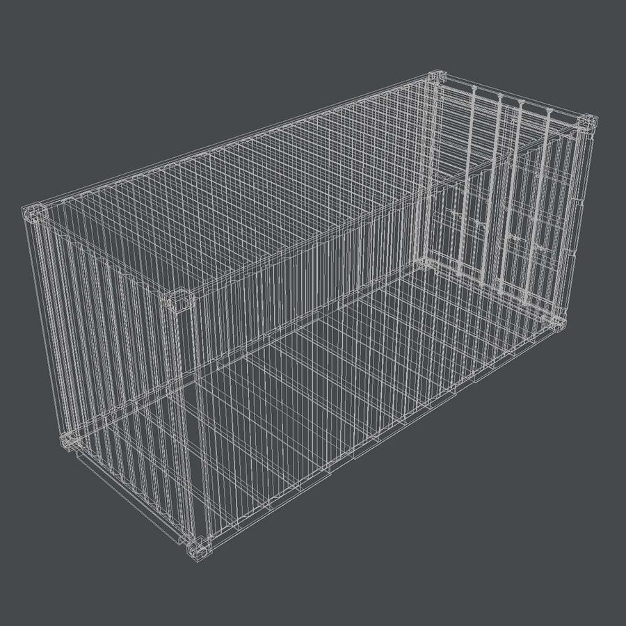 20 ft. Shipping Container royalty-free 3d model - Preview no. 4