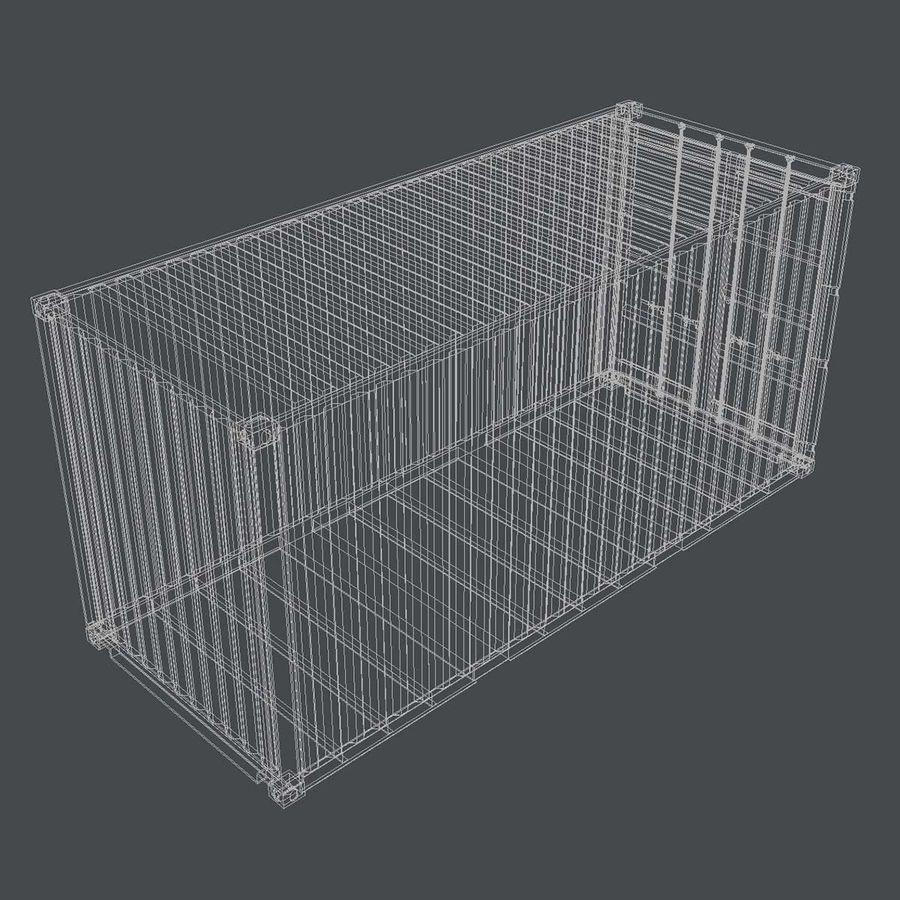 20 ft. Nakliye Konteyneri royalty-free 3d model - Preview no. 4